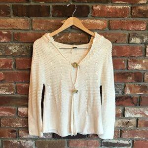 Free People Flowy Boho Open Cream Sweater